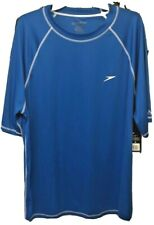 XXL Speedo UV Protection Easy Short Sleeve Mens Blue Swim Tee 027556112278
