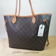 Auth Louis Vuitton Neverfull MM Monogram M40156 Genuine Shoulder Tote Bag LC353