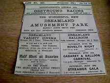 62-9 ephemera 1931 margate advert dreamland cinema half shot at sunrise