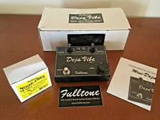 Fulltone Mini Deja Vibe MDV-1 (Black) w/ Box, Original Power Supply, etc.