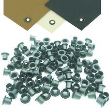 "100 x #8-10 1/4"" Black Rivets Eyelets Custom DIY Kydex Holster Hardware .093.125"