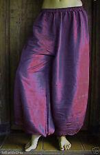 Harem Pants Belly Dance Burgundy Red w/ Steel Blue Glow