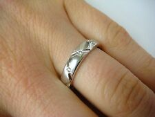 """""""NOVELL"""" WEDDING BAND, WITH 10 DIAMONDS ALL THE WAY AROUND, 4.4 GRAMS, SIZE 7"""