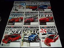 2013 CAR AND DRIVER MAGAZINE LOT OF 11 ISSUES - NICE AUTOMOBILE COVERS - M 635
