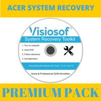 ACER System Recovery Boot Repair Restore CD DVD Disc Windows 10 8 8.1 7 Vista XP