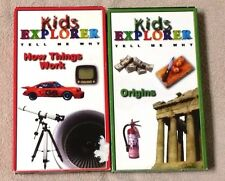 Lot of 2 KIDS EXPLORER - TELL ME WHY Vhs Videos HOW THINGS WORK & ORIGINS VGC