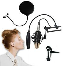 Double Layer Studio Microphone Wind Screen Mask Gooseneck Shield Pop Filter