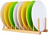 Bamboo Drainer Stand Utensil Plate Organizer Dish Drying Rack Storage Holder