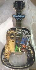 Hard Rock Cafe SINGAPORE SENTOSA Guitar MAGNET Bottle Opener City Tee-Shirt New!