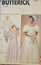 Vtg Butterick pattern 4766 Misses' fitted Bridal Gown size 8 bust 30-1/2 uncut