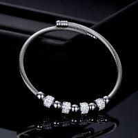 Stainless Steel Wrist Diamond Accessories Men Elegant Bracelet Chain Jewelry W