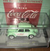 M2 Machines Coke CocaCola 1953 VW Volkswagon Teal Bug Beetle European Model 1/64