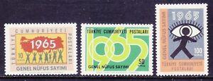 Turkey 1667-69 MNH 1965 Census Full Set Very Fine