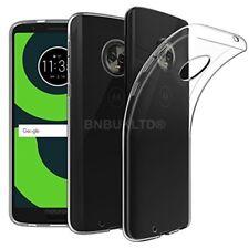 Para Motorola Moto G6 Play claro caso de gel Delgado & Vidrio Protector de pantalla