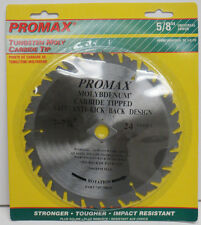 "Promax 7 1/4"" Tungsten Molybdenum Carbide tipped 24T Circular Saw Blade ; NEW"