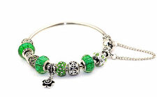 Bracelet with Charms including Murano Glass in Many Different Colours