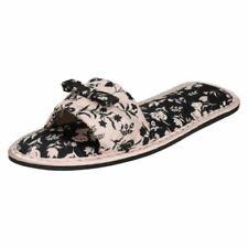 Mesdames bourgogne compensé spot on pantoufles tailles uk 4-8 X2016