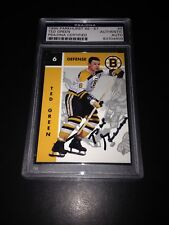 Ted Green Signed 1995-96 Parkhurst '66-67 Card Bruins PSA Slabbed #83704409