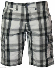 Cotton Check Cargo, Combat Unbranded Shorts for Men