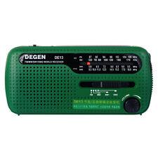 New DEGEN DE13 FM MW SW Crank Dynamo Solar Emergency Radio World Receiver LED YS