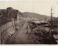 Italia Italia Panorama Di Messina Sommer Vintage Albumina Ca