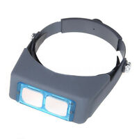 4 Lens Headband Mounted Reading Magnifier Magnifying Glass Loupe 1.5/2/2.5/3.5x