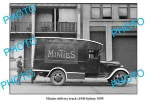 OLD 6 x 4 PHOTO SYDNEY NSW SWEETACRES MINTIES DELIVERY TRUCK c1940