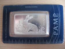 PAMP SUISSE Poland HARE 1 oz 999 Ag SILVER BAR Silberbarren UNC #22.1394