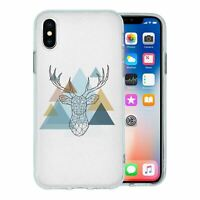 For Apple iPhone XS Max Silicone Case Stag Triangle - S1861