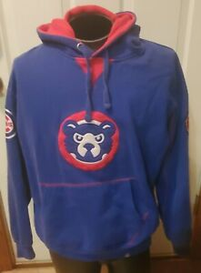 Cooperstown Majestic Chicago Cubs Hoodie Sweatshirt mens large pullover