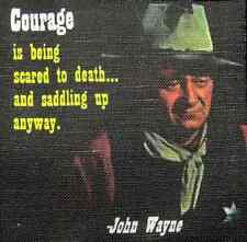 JOHN WAYNE QUOTE 2 - Printed Patch - Sew On - Vest, Jacket, Backpack, Bag,Tshirt