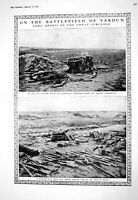 Old 1916 Battlefield Verdun War Trench Mortars Super Submarine Ships 20th