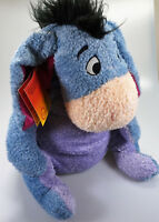 L1) VINTAGE EEYORE DISNEY STORE WINNIE THE POOH PLUSH SOFT TOY BEANIE WITH TAG