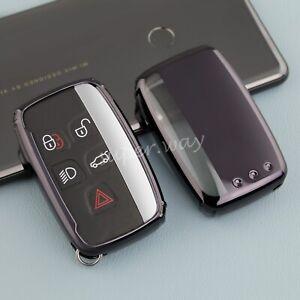 For Land Rover Jaguar Black TPU Car Smart Remote Key Shell Case Cover Holder
