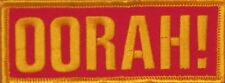 OORAH! MILITARY MARINE CORPS EMBROIDERED IRON ON MOTORCYCLE BIKER PATCH L-16