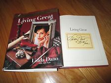LINDA DANO signed LIVING GREAT 1998 1st Ed Book ONE LIFE TO LIVE ANOTHER WORLD