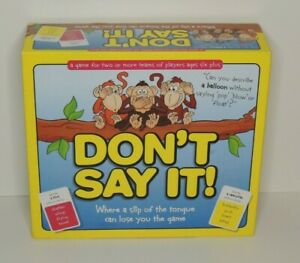 Don't Say It Word Game