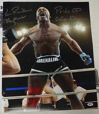 Kevin Randleman Signed UFC 16x20 Photo PSA/DNA COA Pride Grand Prix Cro Cop KO