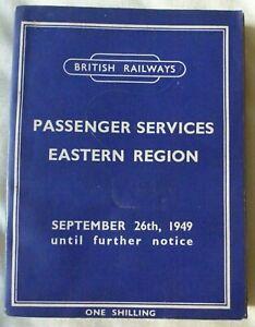 British Railways (Eastern Region): Passenger Services timetable: September, 1949