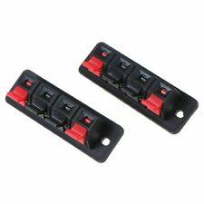 2pcs Plastic 4 Positions Connector Clip Breadboard Terminals Speaker Audio Load