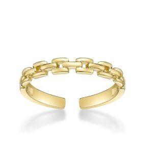 10k Gold Adjustable Open Toe Ring Classic One Size Fits Most Toes 3mm