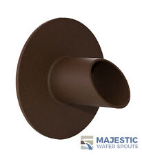 """WAVERLY 1.5"""" ROUND WATER FOUNTAIN SPOUT/SCUPPER - TEXTURED RUST"""