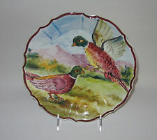 "INTRADA Pheasants Ceramic Plate 9 1/4"" made in Italy NEW"