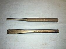 """Snap On 13/32"""" Flat Edge Cold Chisel 5Inch Long Carbon Steel 812 + Mac Punch"""