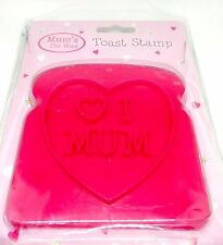 BRAND NEW  I LOVE MUM TOAST STAMP - IDEAL For MOTHERS DAY,Every Day Gift For Mum