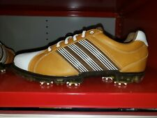 Adidas Adicross Tour Golf Shoes Wheat/White/Leather (Size 11.5)