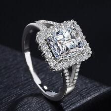5ct Princess Cut Engagement Cz Wedding Ring Women's 925 Silver Jewelry Size 5-10