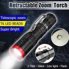 Tactical T6 LED Mini Portable Zoom Flashlight Focus Torch Lamp Light 14500/AA