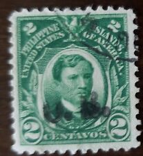 Philippines stamp hand stamped  black OB on 2 centavos used hinged..