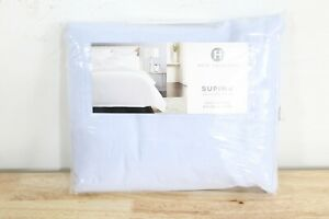 Hotel Collection KING Flat Sheet 825 TC Supima Cotton FROST BLUE J06161